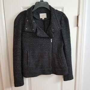 LOFT Moto Tweed Jacket